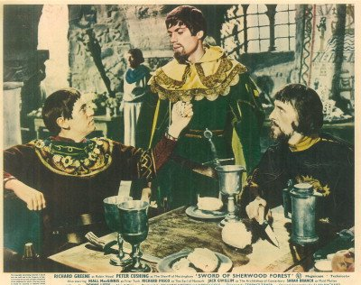 SWORD OF SHERWOOD FOREST PETER CUSHING LOBBY CARD