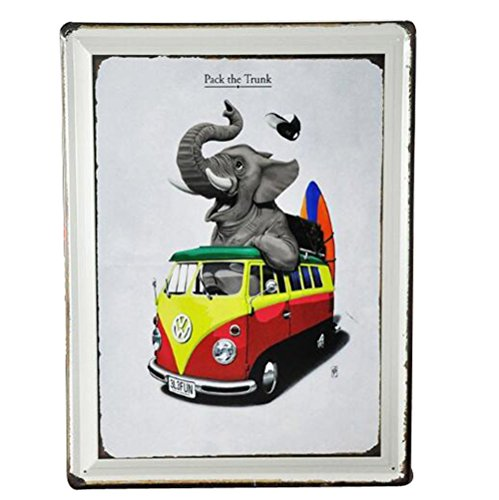 16x12 Inches Fine Art Picture Poster Vertical Style Digital Prints on Metal Board for Decoration(Elephant)