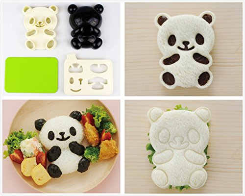 Excelity® Two Way Cute Panda Bear DIY Sandwich Rice Cutter Cake Bread Toast Mold Maker