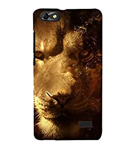 printtech Nature Animal Lion Fantasy Back Case Cover for Huawei G Play Mini