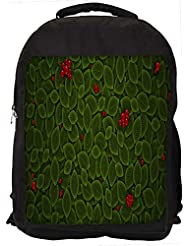 """Snoogg Leaves With Berry Casual Laptop Backpak Fits All 15 - 15.6"""" Inch Laptops"""