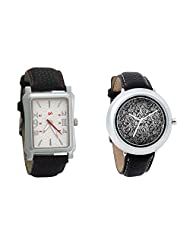 Gledati Men's White Dial And Foster's Women's Black Dial Analog Watch Combo_ADCOMB0001789