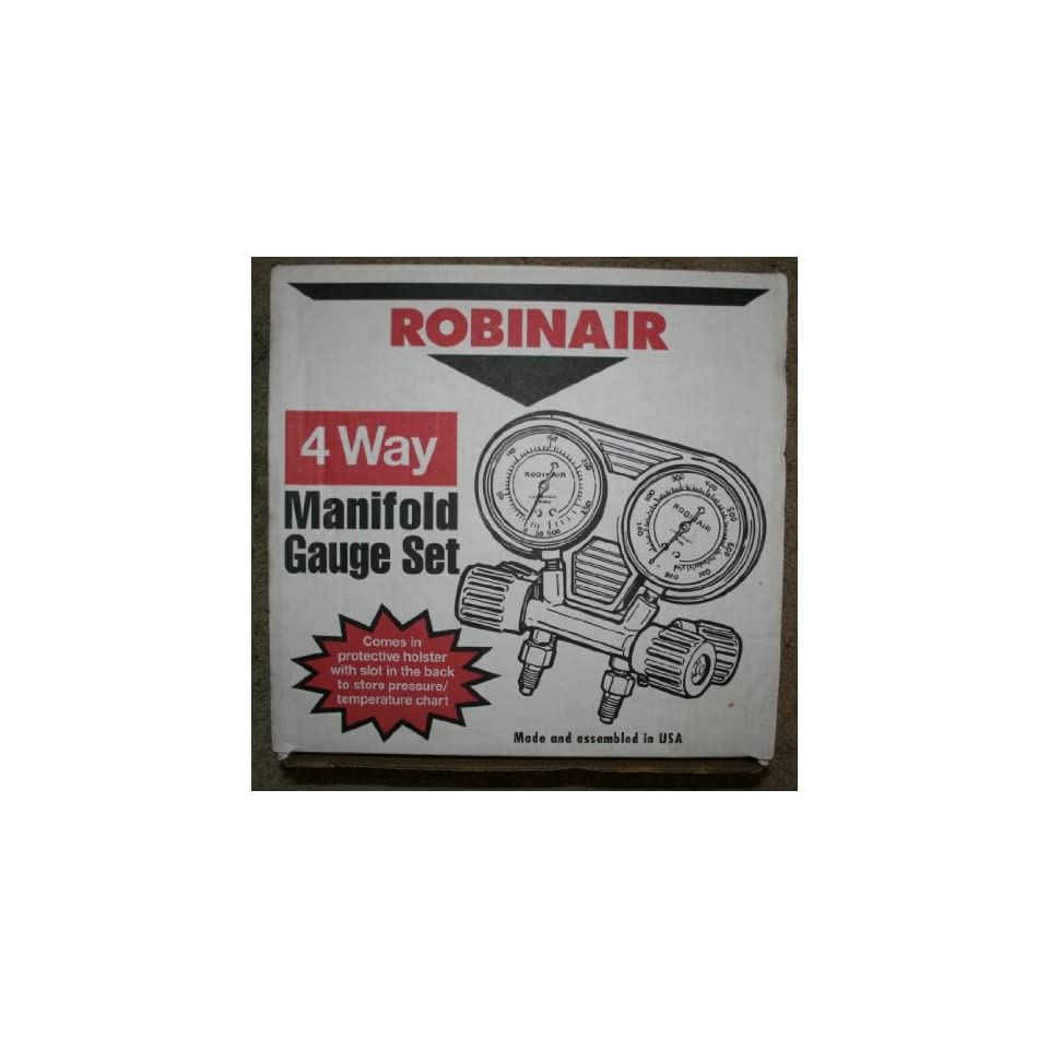 Robinair 4 Way Manifold Gauge Set 41400