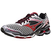 Mizuno Men's Wave Creation 17 Running Shoe, Silver/Chinese Red, 10.5 D US