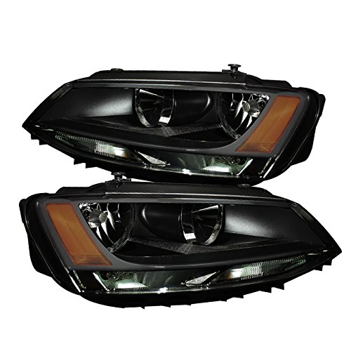 Volkswagen Jetta Amber Crystal Headlights - Smoked (2011 Jetta Headlight Assembly compare prices)