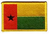 Guinea-Bissau Flag embroidered Iron-On Patch