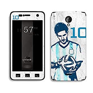 Bluegape Micromax Unity 2 A106 Lionel Messi 'Messiah' Football Player Phone Skin Cover, Multicolor