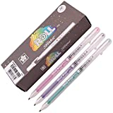 Sakura Xpgb 12-piece Gelly Roll Assorted Colors Stardust Galaxy Pen Gel Ink Bold Sparkling, Bagged Pen Set of Assorted Colors (Color: Blue,Copper,Golden,Green,Lime,Marine,Pink,Purple,Red,Rose,Silver,Sky, Tamaño: Bold Point)