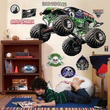 Parti Destinations Monster Jam Autocollants muraux g-ants