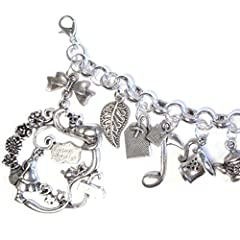 Alice In Wonderland The Mad Tea Party Silver Plated Charm Bracelet