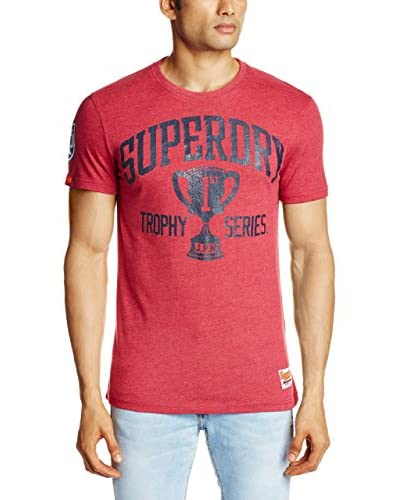 Superdry T-Shirt Manica Corta Trophy [Rosso]