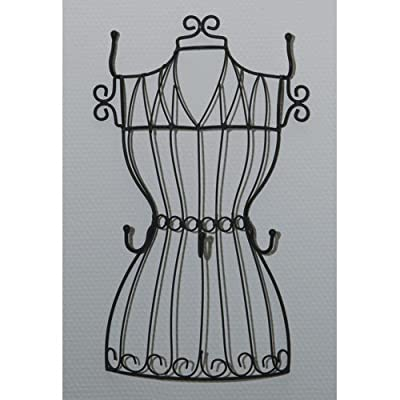 Wire keyholder in shape of a dressmakers dummy bust torso