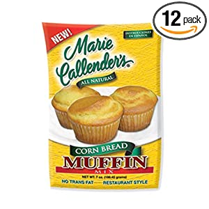 Marie Callender's Corn Muffin Mix, 7-Ounce Pouches (Pack of 12)