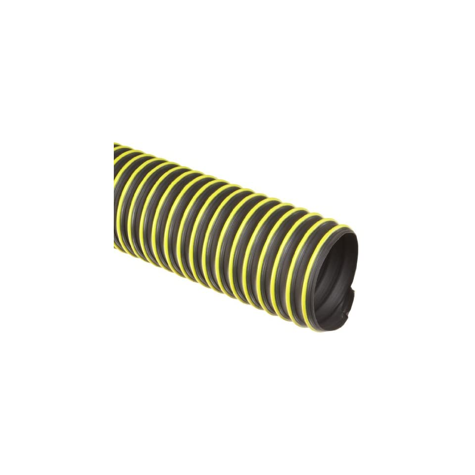 Flexadux T-7 Thermoplastic Rubber Duct Hose Black 25 Length 0.030 Wall 10 ID