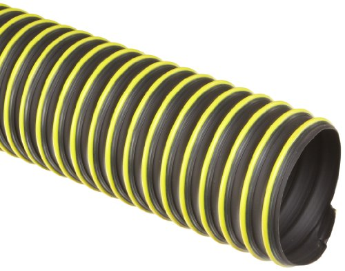 Flexadux T-7W Thermoplastic Rubber Duct Hose, Black, 5″ ID, 0.030″ Wall, 25′ Length