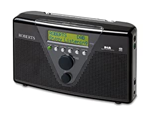 Roberts Duologic DAB/FM RDS Digital Stereo Radio with Built-in Battery Charger - Black