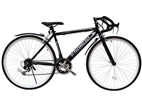 21Technology-【CL27-01 ROAD BIKE】人気27インチシマノ12段変速700Cロードバイク (ブラック)