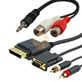 Premium VGA Cable w/ Digital Optical Audio Port + 3.5mm Stereo to 2 RCA M/F Cable for Xbox 360by eforcity