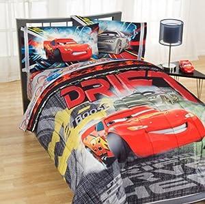lightning mcqueen twin size comforter sheet set 4 piece bedding