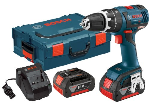 Bosch HDS182-01L 18-Volt Brushless 1/2-Inch Compact Tough Hammer Drill/Driver with 4.0Ah Batteries, Charger and L-Boxx-2