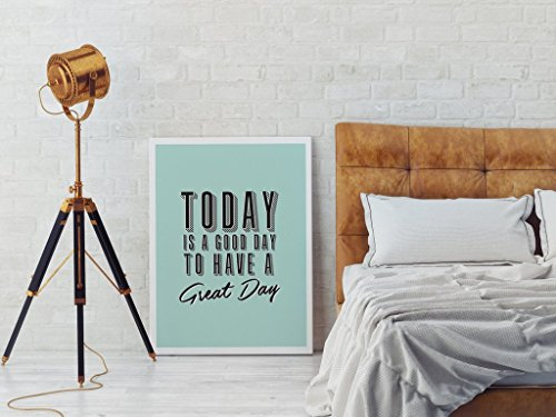 Today Is a Good Day, Typography Poster, Wall Decor, Wall Quotes, Wall Art, Quote Print, Life Quotes, Inspirational Wall Art, Bedroom Print (Life Is Good Poster compare prices)