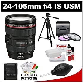 Electronics camera photo lenses godrules online store canon ef 24 105mm f4 l is usm zoom lens with 3 uvfldcpl filters tripod accessory kit for rebel t2i t3i t3 eos 60d 7d 5d 1d 1ds fandeluxe Images