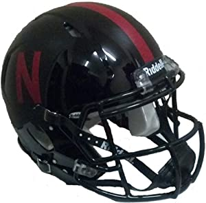 Buy NCAA Riddell Nebraska Cornhuskers UNRIVALED Authentic Speed Helmet - Black by Riddell