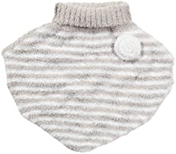 Barefoot Dreams CozyChic Toddler Poncho, Stone/White, Size 2T-3T