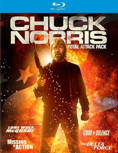 Blu-ray : Chuck Norris Total Attack Pack (Boxed Set, 4 Disc)