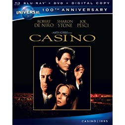Casino [Blu-ray + DVD + Digital Copy] (Universal's 100th Anniversary)