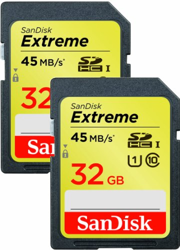 Sandisk 32GB Extreme SD Card SDHC Class 10 2-Pack