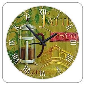 Amazoncom 12 Inch Large Decorative Kitchen Wall Clocks