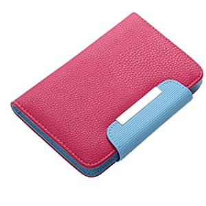 BRAIN FREEZER Z SERIES MAGNETIC HIGH QUALITY UNIVERSAL PHONE FLIP CASE COVER STAND FOR HTC DESIRE VC EXOTIC PINK BLUE