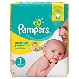 Pampers Premium Protection New Baby Windeln, Halbmonatspackung, Gr��e 1 (Newborn), 2-5 kg, (1 x 72 Windeln) Bild