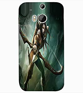 ColourCraft The Warrior Girl Design Back Case Cover for HTC ONE M8