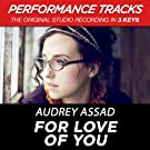 For Love of You (Performance Tracks) - EP