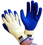 Medipaq® Cut Resistant Gloves (PAIR) - Extra Strong & Expensive Kevlar® & Latex - The Best Work Gloves You'll Ever Own!