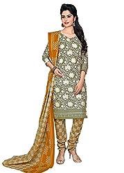 RK Fashion Grey Colour Cotton Unstitched Dress Material (CHANDANI1026-Grey-Free Size)