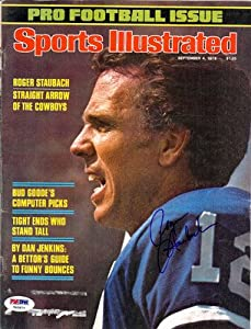 Roger Staubach Autographed Signed Magazine Cover Cowboys #T43676 - PSA/DNA Certified - Autographed NFL Magazines