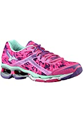 Mizuno Women's Wave Creation 15 Running Shoe, Electric/Silver/Cabbage
