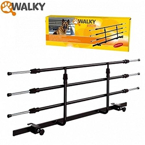 Walky Guard - Griglia divisoria per cani - Montaggio universale per tutte le auto con poggiatesta posteriori