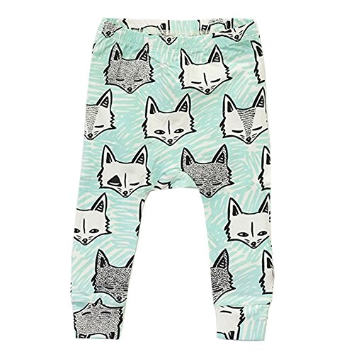 FTSUCQ Boys/Girls Baby Cartoon Pattern Printing Harem Leggings Pants PP Trousers,Blue,110CM (Cossack Pants compare prices)