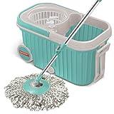 #2: Spotzero By Milton Elite Spin Mop with Bucket (Aqua Green, Two Refills)