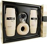 Bijan Nude By Bijan For Women. Set-edt Spray 2.5-Ounces & Body Lotion 3.3-Ounces & Shower Gel 3.3-Ounces