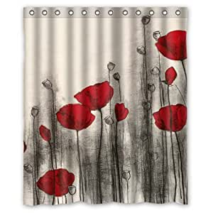 Amazon Beautiful Red Flowers Red Poppies 60 w x72 h