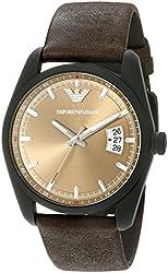 Emporio Armani Men's AR6081 Sportivo Analog-Display Quartz Brown Watch
