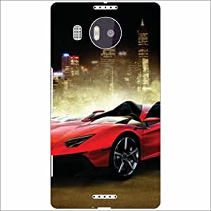 Microsoft Lumia 950 XL Back Cover - Racing Cars Designer Cases