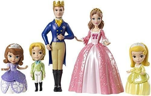 Disney Princesse - Figurines - Princesse Sofia - Coffret La Famille Royale  composé de 5 figurines