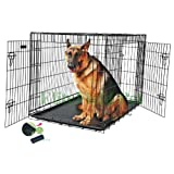 Brand New 48 EliteField Two Door Folding Dog Crate with Divider, 48 long x 30 wide x 32 high, Product Quality Guarantee, 100% Money Back Guarantee, Customer Satisfaction Guarantee, 5-size and 3-color Metal Crates, 4-size and 4-color Soft Crates, 5-size Metal Pens, 3-size Soft Pens, for more informat