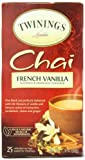 Twinings, Chai, French Vanilla, 25 Tea Bags, 1.76 oz (50 g)